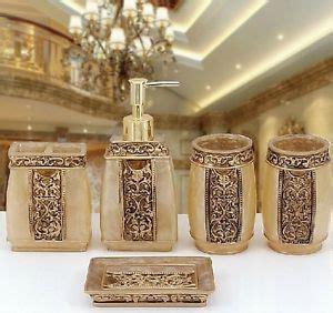 gold bathroom accessories sets gold bathroom accessories ebay