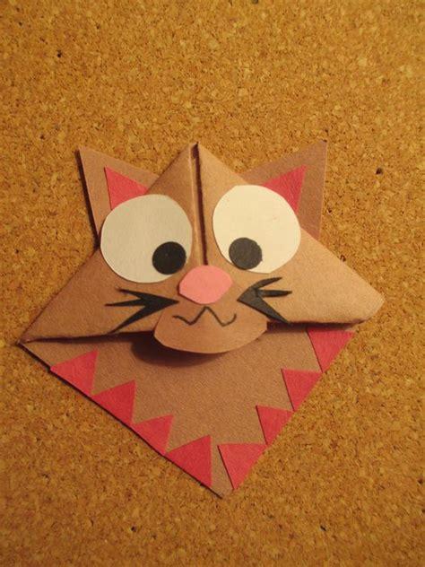 origami cat bookmark cat bookmark handmade origami bookmarks