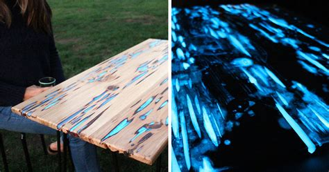 glow in the paint resin awesome diy table with glow in the resin