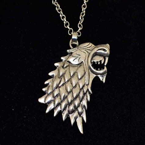 metal pendants for jewelry wolf stark necklace pendant silver color jewelry song of