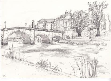 richmond bridge drawing from bridge drawing