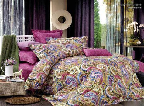 paisley king comforter sets cotton pink paisley satin luxury bedding
