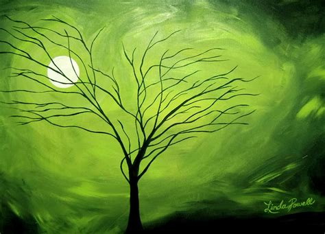 paint nite ta green i painting by powell