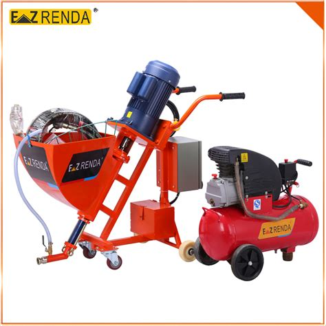 spray paint machine for walls automatic cement wall putty spray paint machine 1 1kw 220v