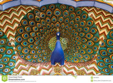 oeuvre d oeuvre d avec un paon image stock image 36163531