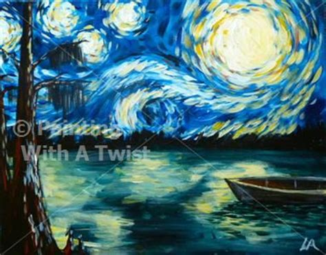 paint with a twist miami lakes starry in the sw shreveport la painting class