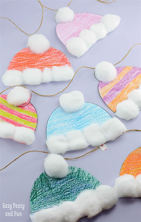 and crafts ideas free winter hats craft for classroom craft