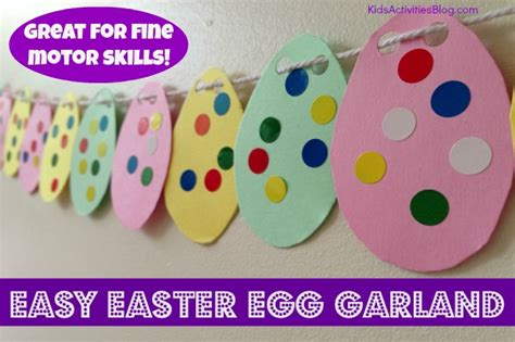 simple easter crafts for easter crafts for make a garland motor skills