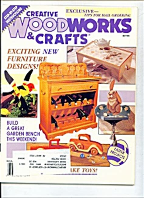 creative woodworking magazine creative woodworks crafts magazine april 1993 craft