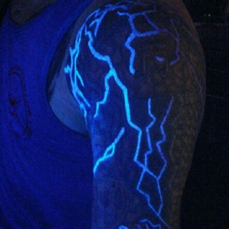glow in the thunder 60 glow in the tattoos for uv black light ink