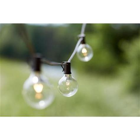 outdoor string lights home depot 10 light outdoor clear hanging garden string light kf19001