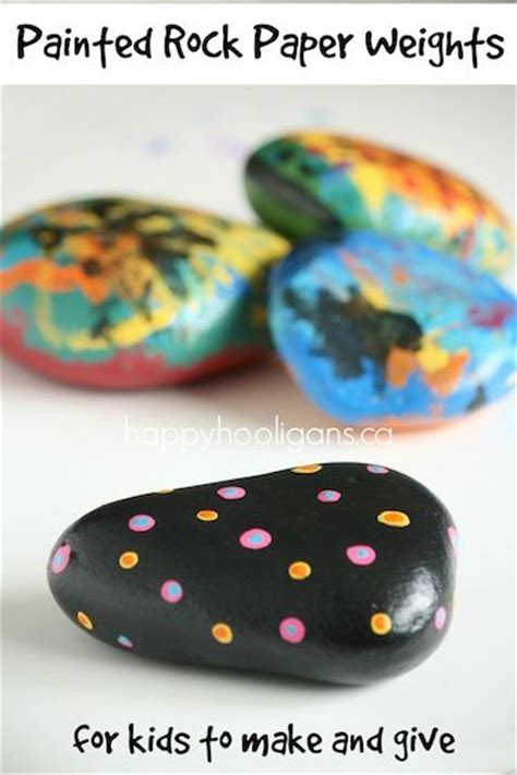 paper weight craft painted rock paper weight craft for to make