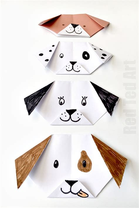 how to make an origami puppy easy origami puppy ted s