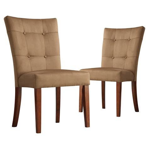 tufted parsons dining chair homelegance tufted parsons dining chair set of 2