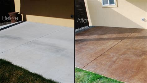 how to stain concrete patio yourself diy project how to stain a concrete patio the garden glove