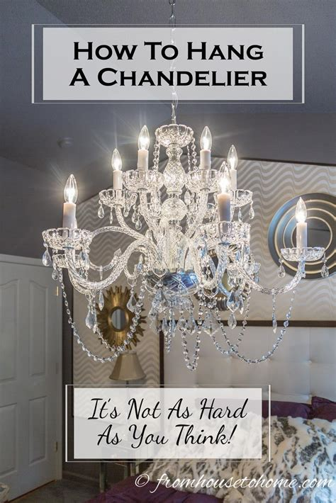 how to hang chandelier from ceiling how to hang a chandelier light fixtures chandeliers