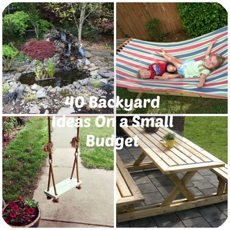 backyard ideas on 40 diy backyard ideas on a small budget