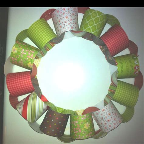 paper chain crafts paper chain wreath craft ideas