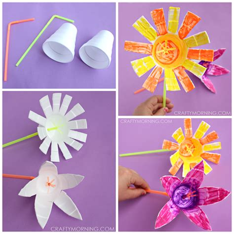 craft flowers for styrofoam cup flowers craft crafty morning
