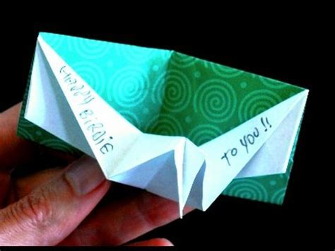how to make a origami pop up card how to make an origami birthday pop up card