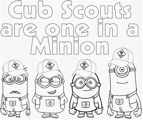 cub scout coloring pages cub scout minions prin