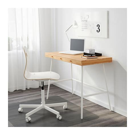 bamboo computer desk lill 197 sen desk bamboo 102x49 cm ikea