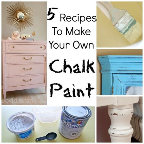 chalk paint to make 5 recipes to make your own chalk paint craft gossip