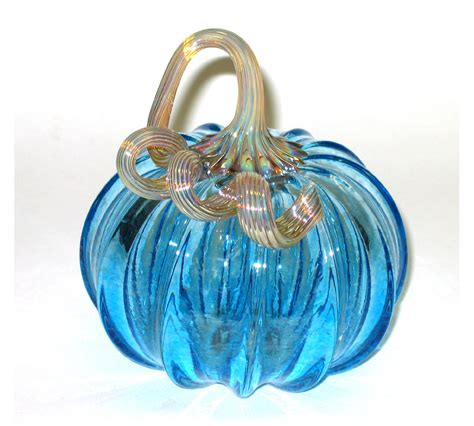 handblown glass blown glass pumpkin