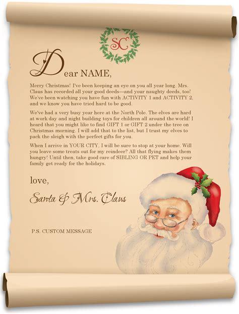 holiday santa letter