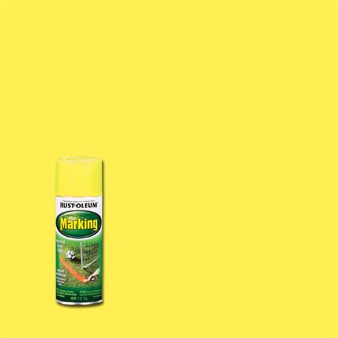 home depot yellow paint suit rust oleum professional 18 oz flat white striping spray