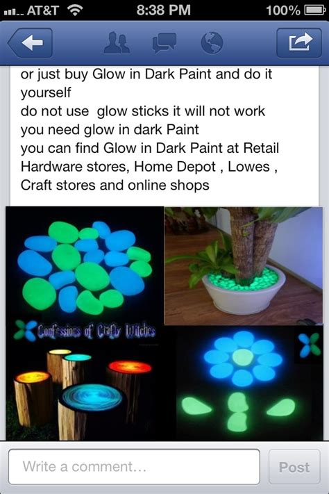 how to make glow in the paint without powder glow and on