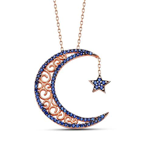 jewelry necklace crescent silver necklaceislamic jewelry store