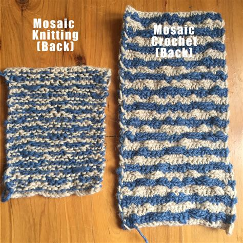 knitting and mosaic knitting vs mosaic crochet clearlyhelena