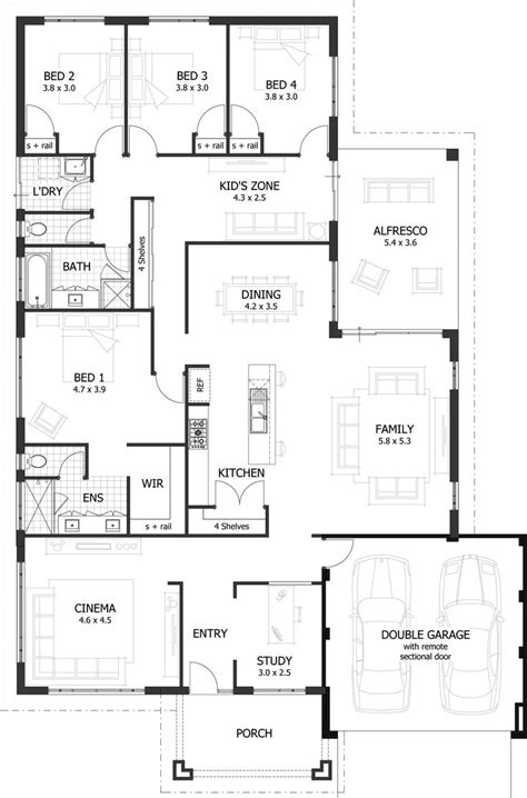 4 bedroom open floor plans 25 best ideas about 4 bedroom house plans on