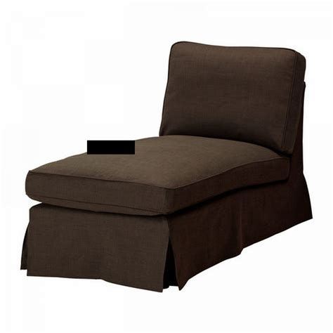 ikea ektorp chaise longue cover slipcover svanby brown free standing lounge