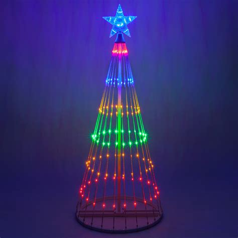 animated light show multicolor led animated outdoor lightshow tree