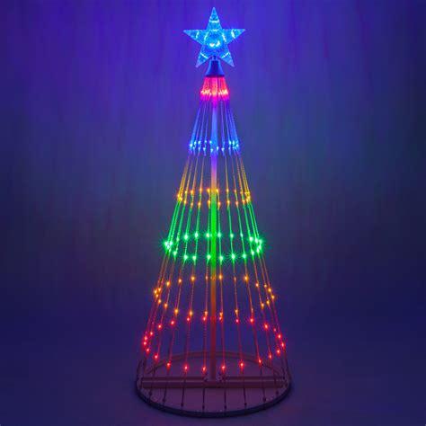 lights tree multicolor led animated outdoor lightshow tree