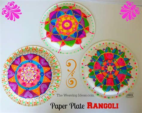Diwali Craft Paper Plate Rangoli Idea For