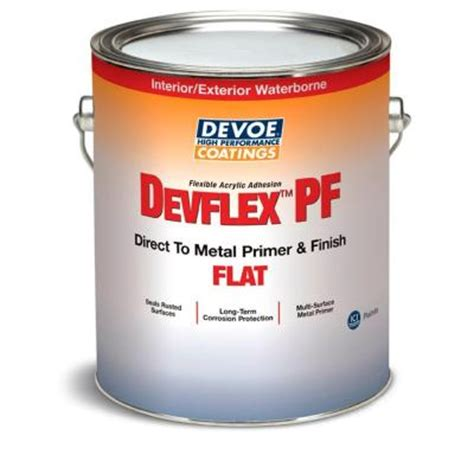 home depot paint no primer devflex pf 1 gal flat acrylic white direct to metal