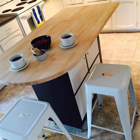 ikea hack kitchen island another expedit or kallax kitchen island ikea hackers