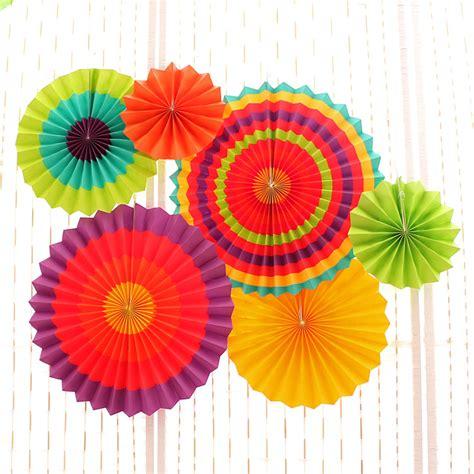 fan craft 6pcs set tissue paper fan craft event decoration