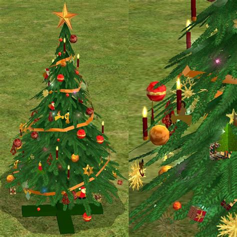 sims 3 weihnachtsbaum mod the sims tree in gold and blue silver