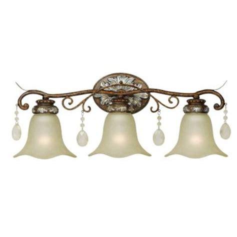 home depot bathroom lights world imports 3 light oxide bronze with silver bath bar