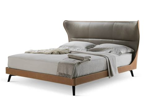 leather bed tanned leather bed mamy blue bed by poltrona frau