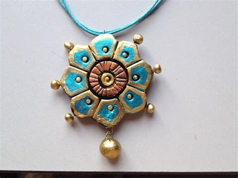how to make terracotta jewelry terracotta jewellery how to paint a flower pendant