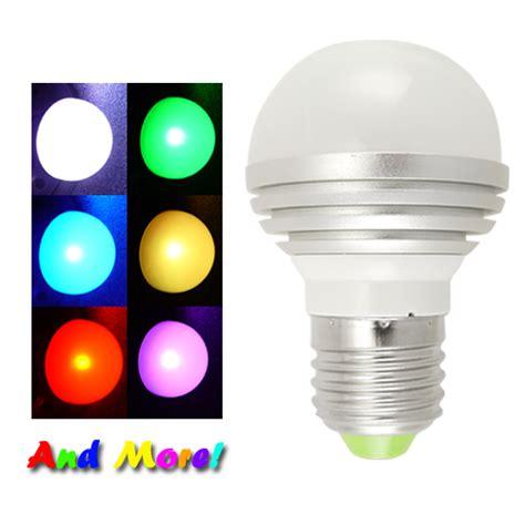 led light bulbs that change color led color changing light bulb 16 colors remote 3 w