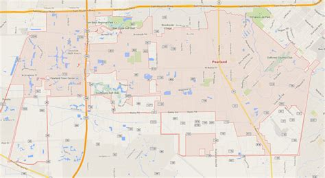 pearland tx pearland map