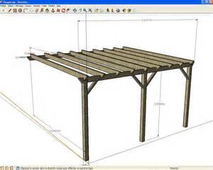 pergola bois plan construction obasinc