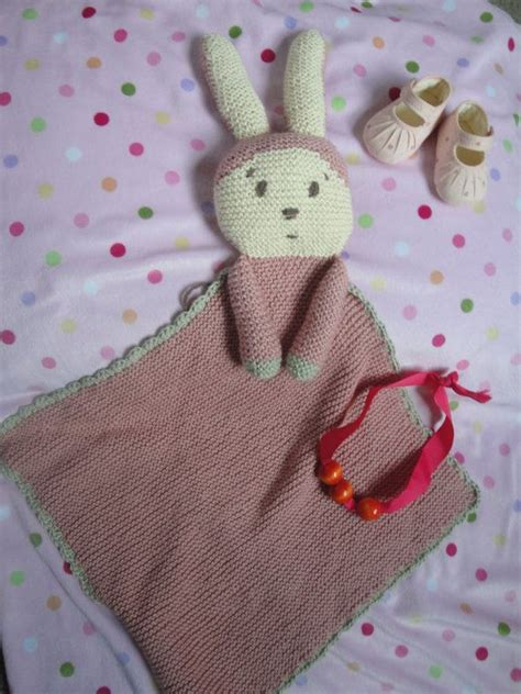 knitted bunny blanket pattern pdf pattern for knit bunny blanket lovie for by
