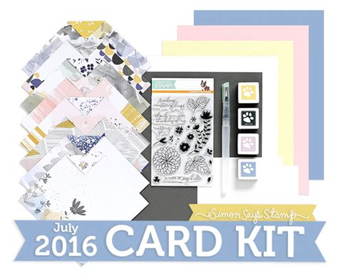 monthly card kits monthly card kit simon says st